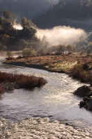DT-CA-11-04 Early morning fog over the confluence of the north and middle forks of the American River, Auburn, California