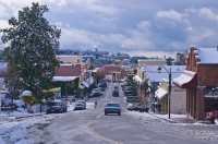 DT-CA-2124  Downtown Auburn, California in the snow.